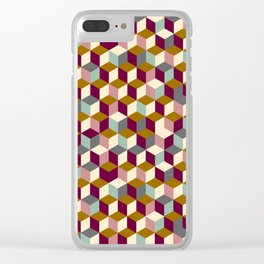 Cubic Pattern Clear iPhone Case