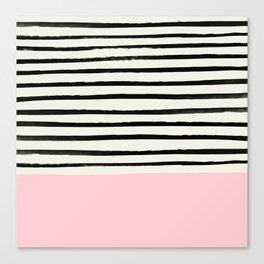 Millennial Pink x Stripes Canvas Print