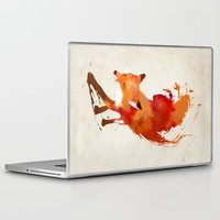 apple Laptop & iPad Skins featuring Vulpes vulpes by Robert Farkas