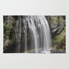 Rainbow Passing Through Narada Falls Rug