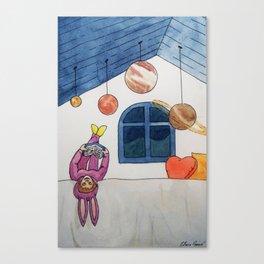 Planetas en el techo Canvas Print
