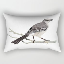 Northern mockingbird - Cenzontle - Mimus polyglottos Rectangular Pillow