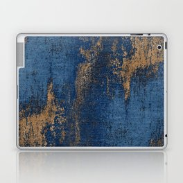 NAVY BLUE AND GOLD PATTERN Laptop & iPad Skin