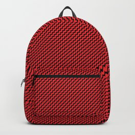 red patterns Backpack