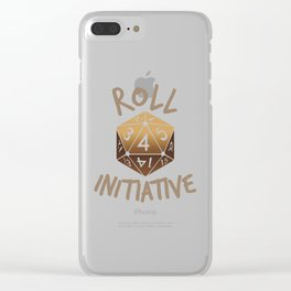 Roll For Initiative Clear iPhone Case