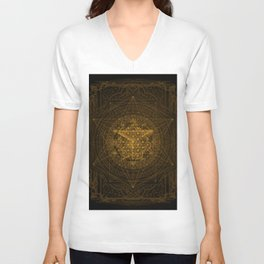 Dark Matter - Gold - By Aeonic Art Unisex V-Neck