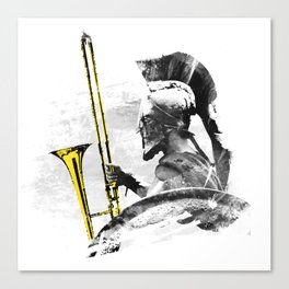 Trombone Warrior Canvas Print