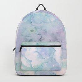 Pastel modern purple lavender hand painted watercolor wash Backpack
