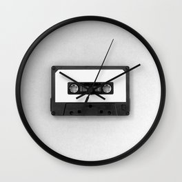 Music Tape (Black and White) Wall Clock