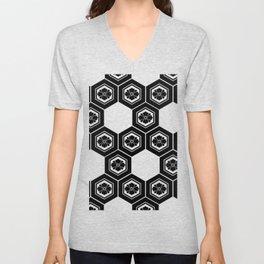 Hanabishi-Pattern, japan, Japanese Unisex V-Neck