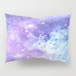 Grunge Galaxy Lavender Periwinkle Blue Pillow Sham