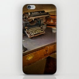 Vintage Writers Corner iPhone Skin
