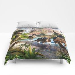 Jurassic dinosaur Comforters