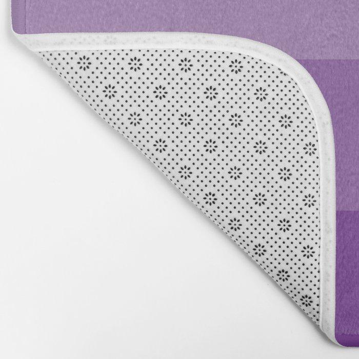 Four Shades of Purple Bath Mat