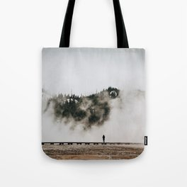The Woman and the Geyser Tote Bag