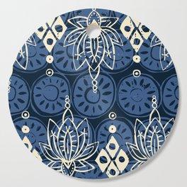 lotus diamond indigo Cutting Board