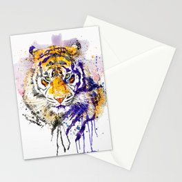 Tiger Head Portrait Stationery Cards