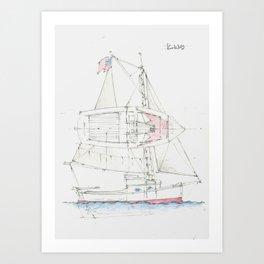 22 Ft Sloop Art Print