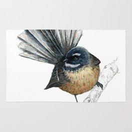 Mr Pīwakawaka, New Zealand native bird fantail Rug