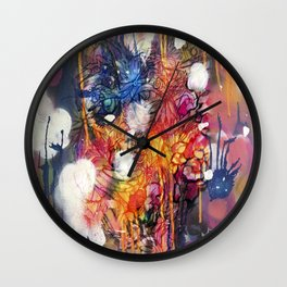 FlowerFish Wall Clock