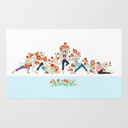Yoga Girls_Growing With Poses_Robin Pickens Rug