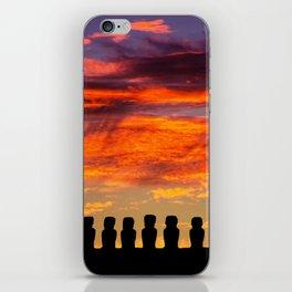 EASTER ISLAND SUNRISE iPhone Skin