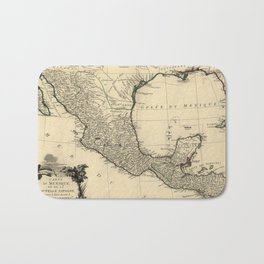 Vintage Map of Mexico (1779) Bath Mat