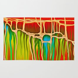 Distant Trees in Orange and Lime Rug