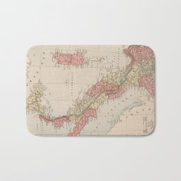 Vintage Map of Italy (1883) Bath Mat