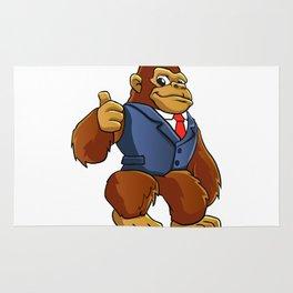 Gorilla in suit. Rug