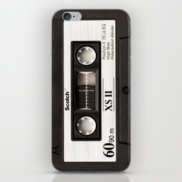Cassette Tape Black And White #decor #homedecor #society6 iPhone Skin