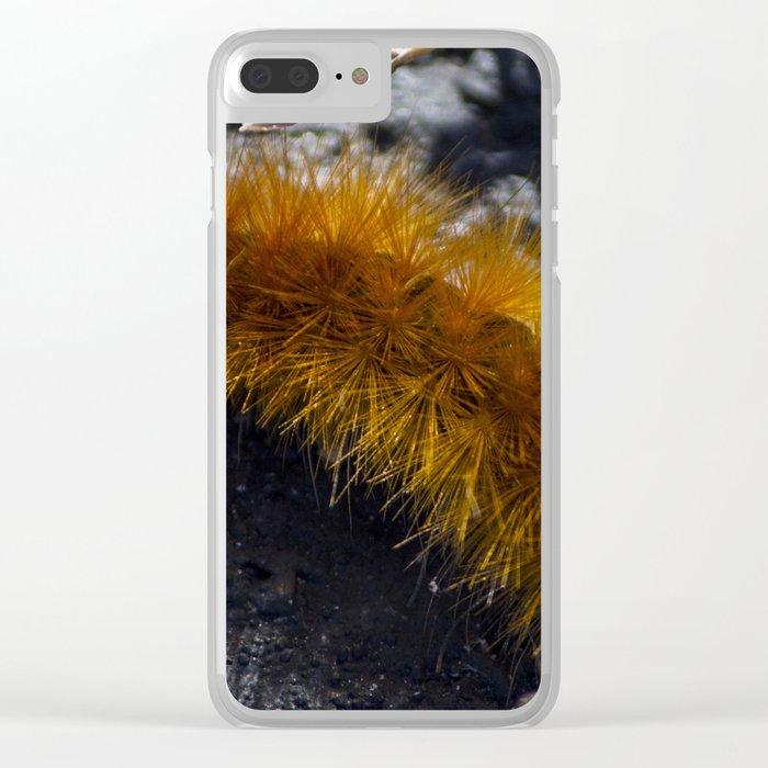 Orange Caterpillar Clear iPhone Case