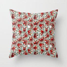 Free Hugs clowns Throw Pillow