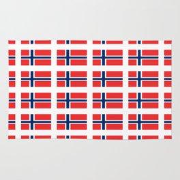 flag of norway,snow,scandinavia,scandinavian, norwegian,oslo Rug