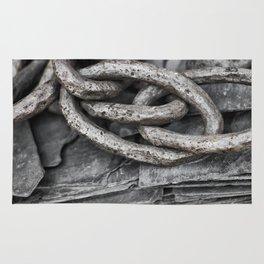 Vintage Chains and Slate Rug