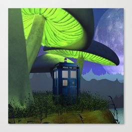 Tardis in the planet of alien Canvas Print