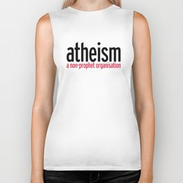 Atheism Funny Quote Biker Tank