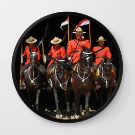 Red Serges & Black Beauties Wall Clock