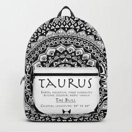 Tribal Taurus Mandala Backpack