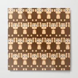 Super cute animals - Cheeky Brown Monkey Metal Print