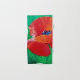 Single Poppy Hand & Bath Towel