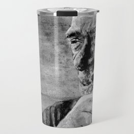 Charles Bukowski - love version - black Travel Mug