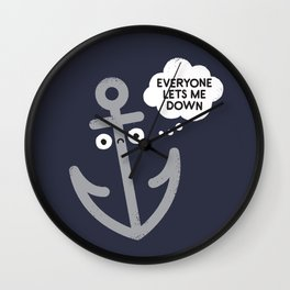 That Sinking Feeling Wall Clock