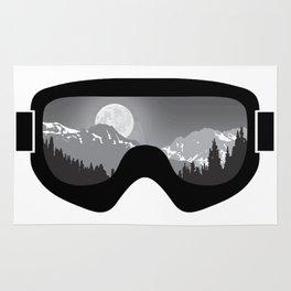 Moonrise Goggles - B+W - Black Frame   Goggle Designs   DopeyArt Rug