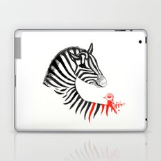 Black Zebra and Orange Bird Laptop & iPad Skin