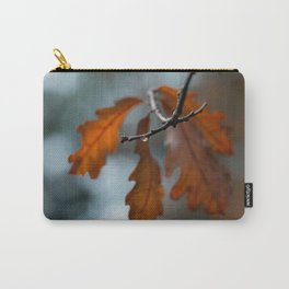 Rain Drop and Oak Leaves Carry-All Pouch