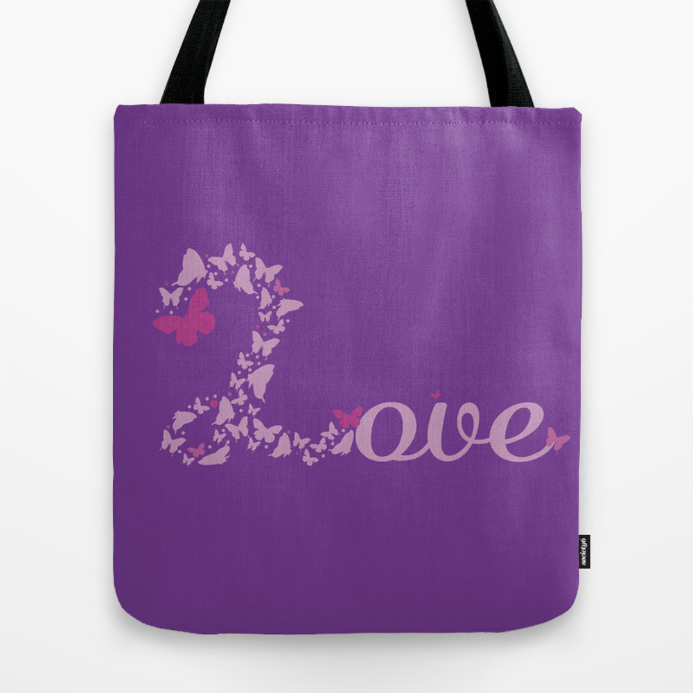 Flight Of The Butterflies - Lavender Tote Bag by Shiho TBG8744063