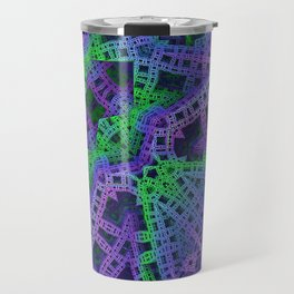 Green and purple film ribbons Travel Mug