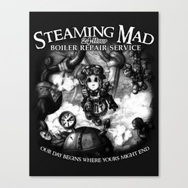 Steaming Mad Boiler Repair Canvas Print