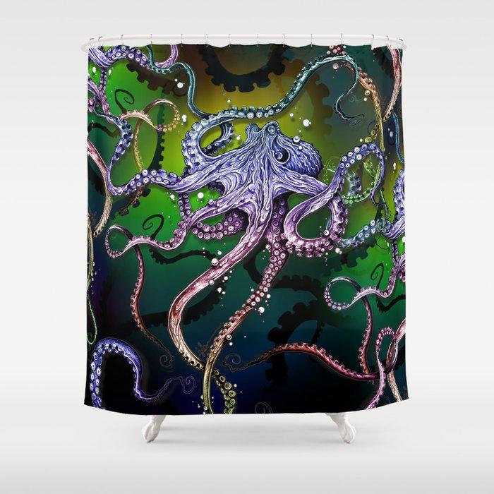 Rainbow Octopus Shower Curtain By Taojb